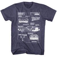 Back to the Future DeLorean Time Machine Haynes Blueprints Men's T Shirt Parody