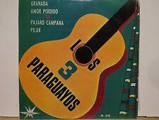 LOS TRES PARAGUAYOS GRANADA AMOR PERDIDO MARFEX # 645 45 RPM E/P P/S N/M VINYL