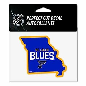 """WinCraft St Louis Blues 4""""x5"""" Perfect Cut State Decal"""