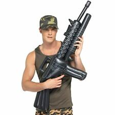 Inflatable Machine Gun Military Army Prop War Mens Fancy Dress Accessory Toys