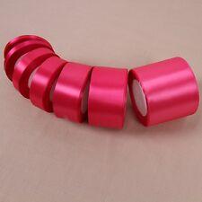 Fushia Satin Ribbon Gift Bow Handmade DIY Craft Wedding Party Supply Banquet 14