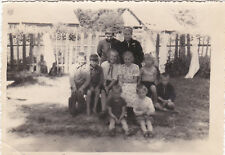 1950s Children Pioneer girls boys with women camp? old Russian Soviet photo