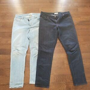 Ann Taylor LOFT Made and Love Women's Size 30/10 Curvy Skinny Denim Jeans Lot 2