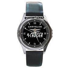 NEW CHRYSLER PT CRUISER Custom Round Metal Leather Men's Watch Watches