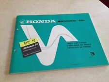 Honda ATC250ES F G ATC250 ESG ESG ATC parts list liste catalogue pièce détachée