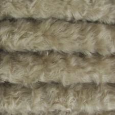 "1/4 yd 785S/C Stone INTERCAL 3/4"" Med. Dense Curly German Mohair Plush Fabric"