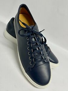 """JIGSAW """"CAMPBELL"""" DERBY NAVY BLUE LEATHER FASHION TRAINERS - UK 11 /EU 45 /US 12"""