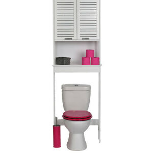 Over The Toilet Space Saver Cabinet Bath Furniture  Doors  Shelves