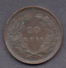 Portugal 20 reis 1892 coin Semi Key Date