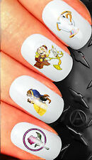 Beauty and the Beast Larger Nail Art Sticker Water Decals Transfer Stickers set