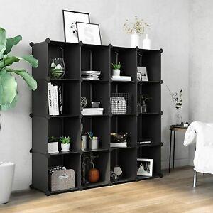 SONGMICS DIY 16-Cube Closet-Bath-Storage Organizer, Book Shelf or Living Room