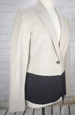 NEW CALVIN KLEIN  Suit Jacket Career Blazer Women's Size 4 Coat Khaki Black