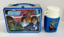 B9 Vintage 1980'S Star Wars The Empire Strikes Back Metal Lunchbox & Thermos Set