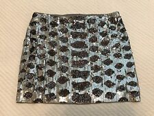 Sexy Express Sequin Mini Skirt Sliver Black Size XS