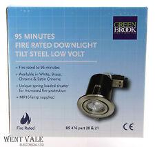 Greenbrook Cromo Pulido 95 minutos fuego de baja tensión nominal Downlight con inclinación