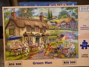 House Of Puzzles Green Man Big 500 Piece Jigsaw Puzzle COMPLETE