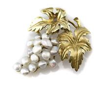 Brosche Perle 585 14K Gelbgold