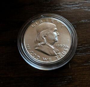1950 SILVER FRANKLIN HALF DOLLAR.  TOP BU CONDITION !!!!