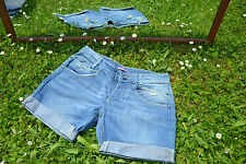 PURE OXYGEN Italian Design Vtg Ladies Custom Denim Pants Jeans Shorts sz M M40