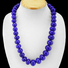 ABSOLUTELY FABULOUS 792.00 CTS EARTH MINED BLUE SAPPHIRE ROUND BEADS NECKLACE