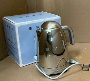 NEW OPEN BOX Smeg KLF04SSUS 7-Cup Electric Temperature Kettle, Chrome $319.99