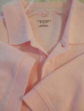 GEOFFREY BEENE Mens Short Sleeve 100% Cotton Woven Golf Polo Shirt PINK Large XL