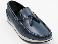 New Roberto Serpentini Blue boat with tassels  Leather shoes Size 44 US 11