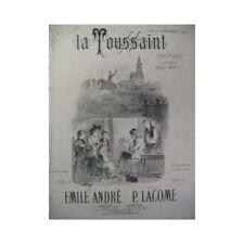Lacome Paul the Halloween Singer Piano 1881 Sheet Music Sheet Music Score