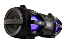 CD Player Boombox Ghettoblaster Bluetooth CD/MP3 USB, AUX AEG SR 4359 BT schwarz