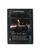 Star Wars CCG Darth Maul With Lightsaber Foil Card