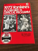 SCORED 9/9/73 BREWERS  @ YANKEES  SCORECARD AND PROGRAM