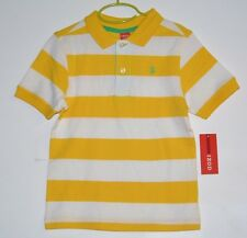 IZOD Striped Boy Shirt Color Yellow and White Size L(7)  Brand New