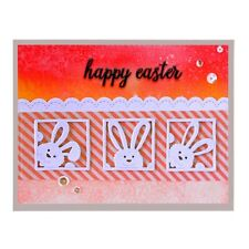 Easter Rabbit Metal Cutting Die Scrapbook Embossing Stencil Card Making DIY Gift