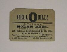 1893 Nolan Bros Brooklyn Business  Card & Gravesend Hook & Ladder Co. ad