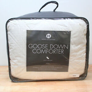 Hotel Collection KING European White Goose Down Comforter Light Weight J0Z023