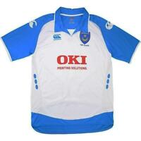 Portsmouth Football Shirt Canterbury Childrens Away White Blue Jersey age 8-10