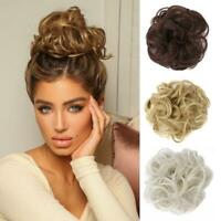 Messy Rose Bun Easy To Wear Stylish Hair Scrunchies New S7M1