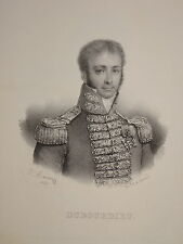 RARE PORTRAIT AMIRAL DUBOURDIEU NAPOLEON MARINE EMPIRE NAVARIN GRECE TOULON 1836