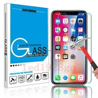 Premium Tempered Glass Screen Protector Guard Shield Saver For Apple iPhone X @L