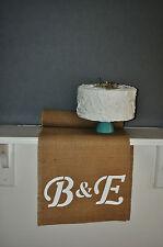 Personalised Table Runner Hessian Burlap Wedding Sweet  6 feet (1.82cm) Bride