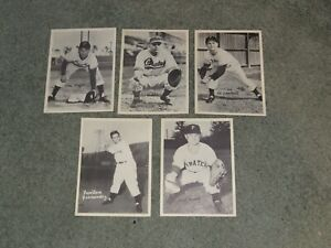 1940s 5 Pittsburgh Pirates Team Issued 6.5 x 9  Lot Of Photos Rojek Mueller etc
