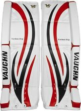 New Vaughn 7490i ice hockey goalie goal 29+1.5 leg pads intermediate black/red