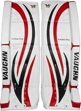 New Vaughn 7490i ice hockey goalie goal 29+1.5 leg pads intermediate black/red