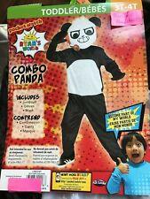 Ryans World COMBO PANDA Halloween Costume Size 3T-4T