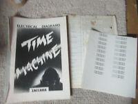 original  TIME MACHINE ZACCARIA    pinball MACHINE  manual