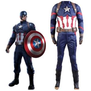 Captain America Avengers Civil War Steve Rogers Cosplay Costume Halloween Suit