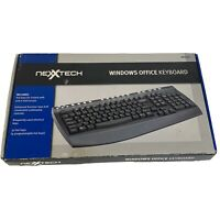 Computer Keyboard Windows Office Keyboard With Software Driver Black Nexxtech