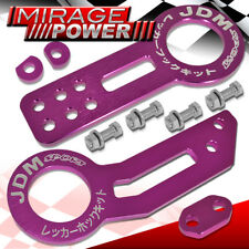 For Acura Honda Lexus Front Rear Heavy Duty Aluminum Purple Tow Hook Kit