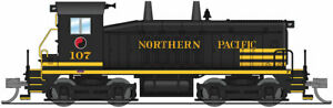 N-SCALE Broadway Limited 3881 EMD SW7 - Sound and DCC Northern Pacific 107