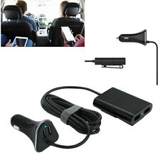 4-Port Car USB Charger Front Back Seat Adaptor For Electronic Devices Phone GPS